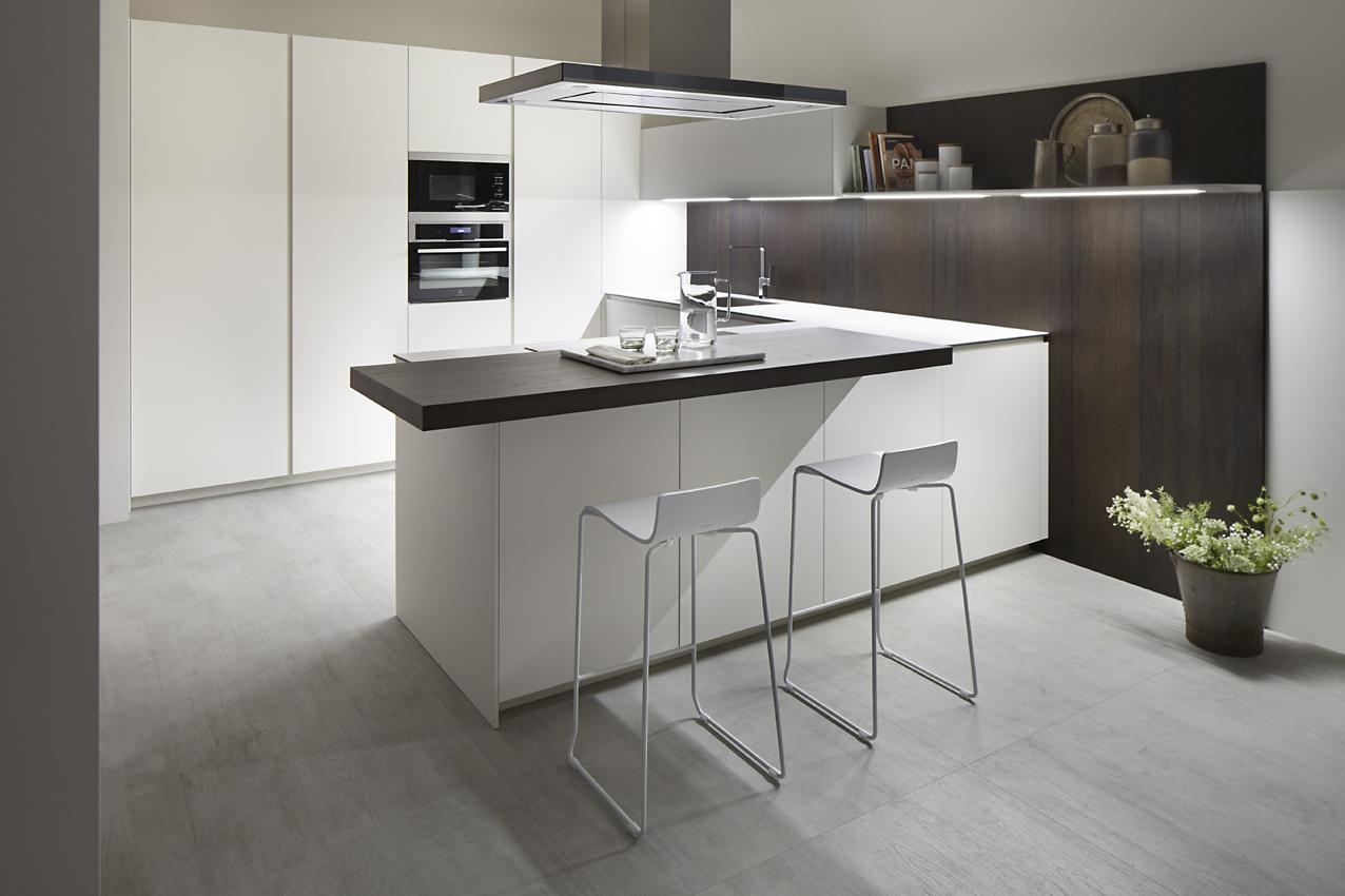 Cocina 1  S45 Blanco Fenix. Dica